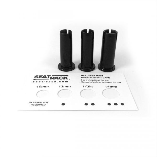 Interior car rack post adaptor sleeve measurement card