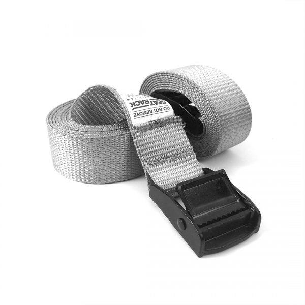 Interior car rack standard adjustable strap set